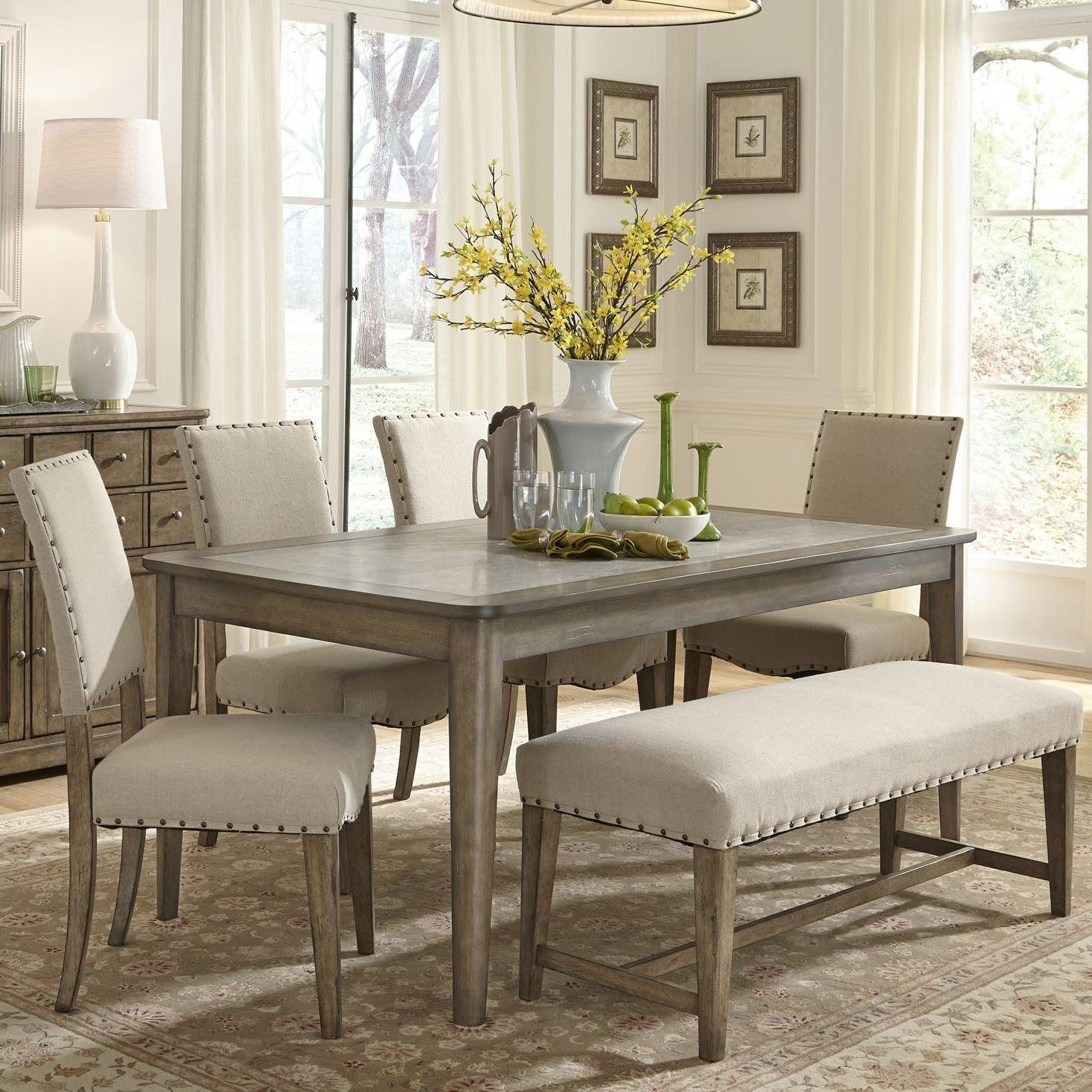 Dining room table with upholstered bench  Dining Room Table With Upholstered Bench  Dining Room Furniture