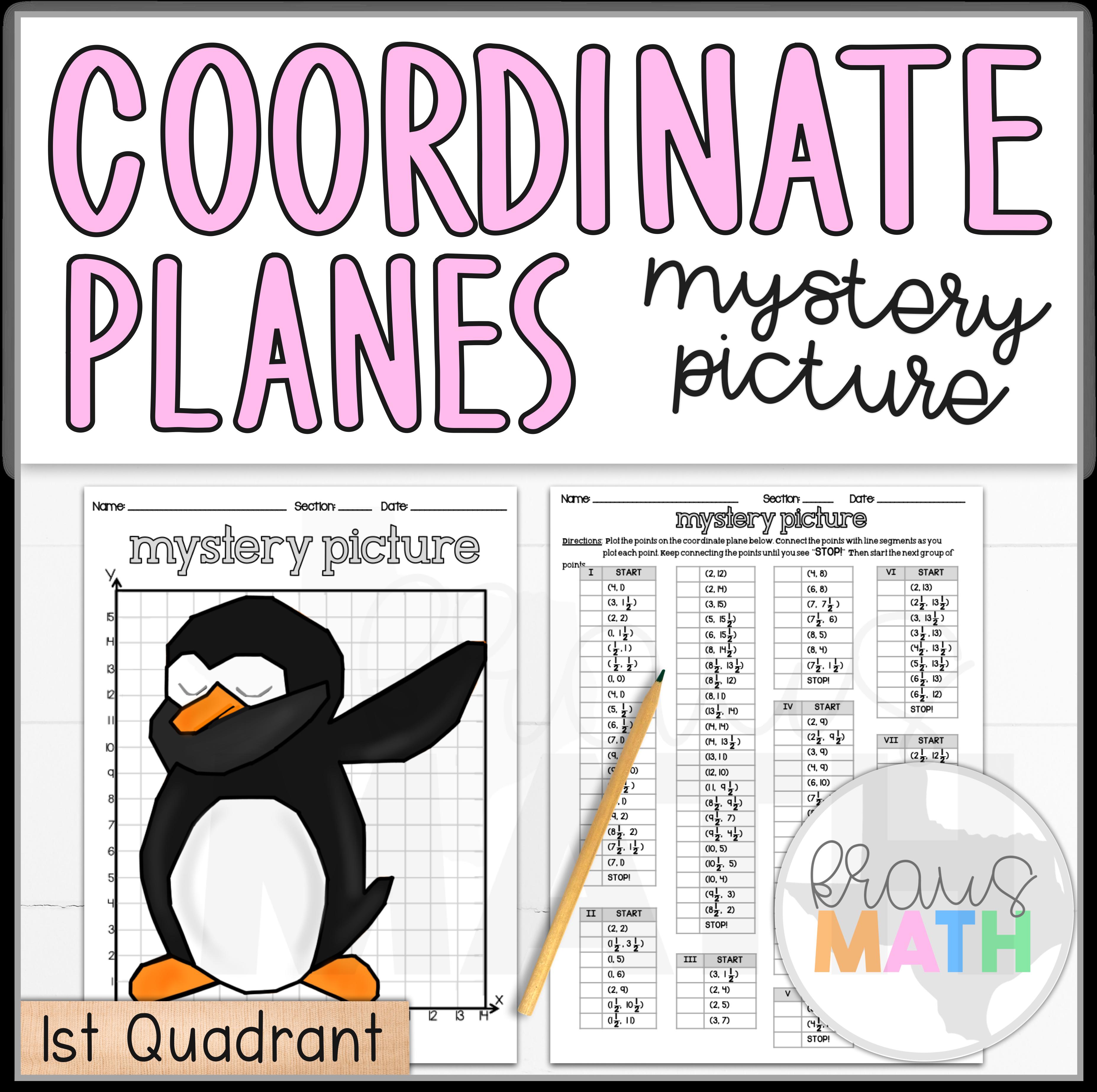 Penguin Dab Coordinate Plane Activity 1st Quadrant