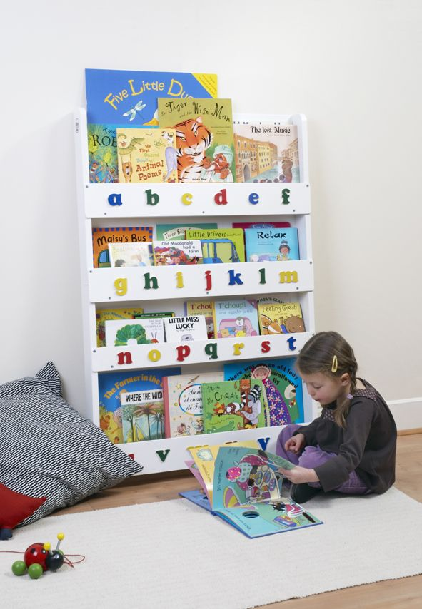 The Tidy Books Childrens Bookcase In White Perfect Book Display And Storage For Your Children