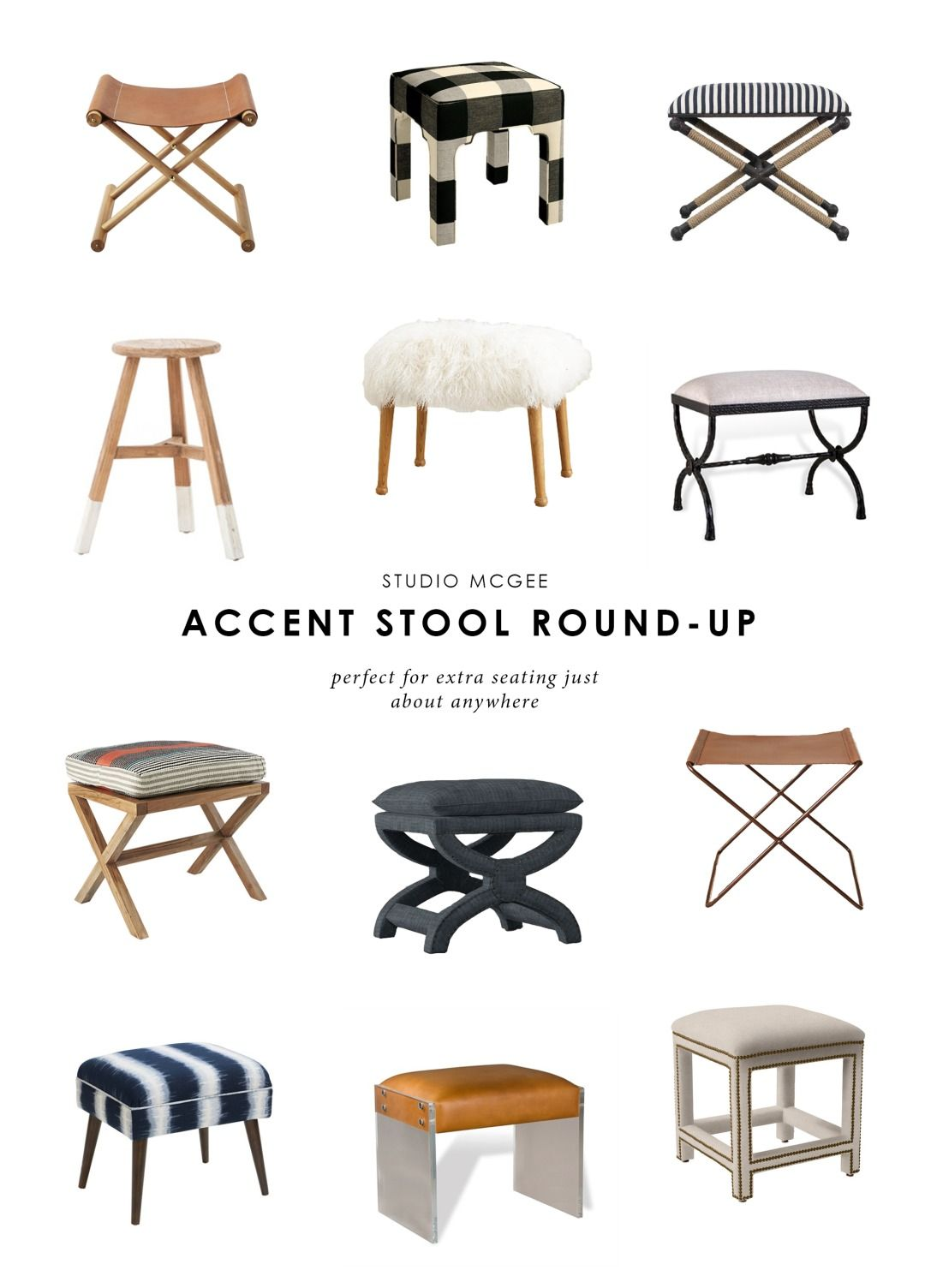 10 Accent Stools To Fill Any Space Living Room Stools Stool Upholstered Stool