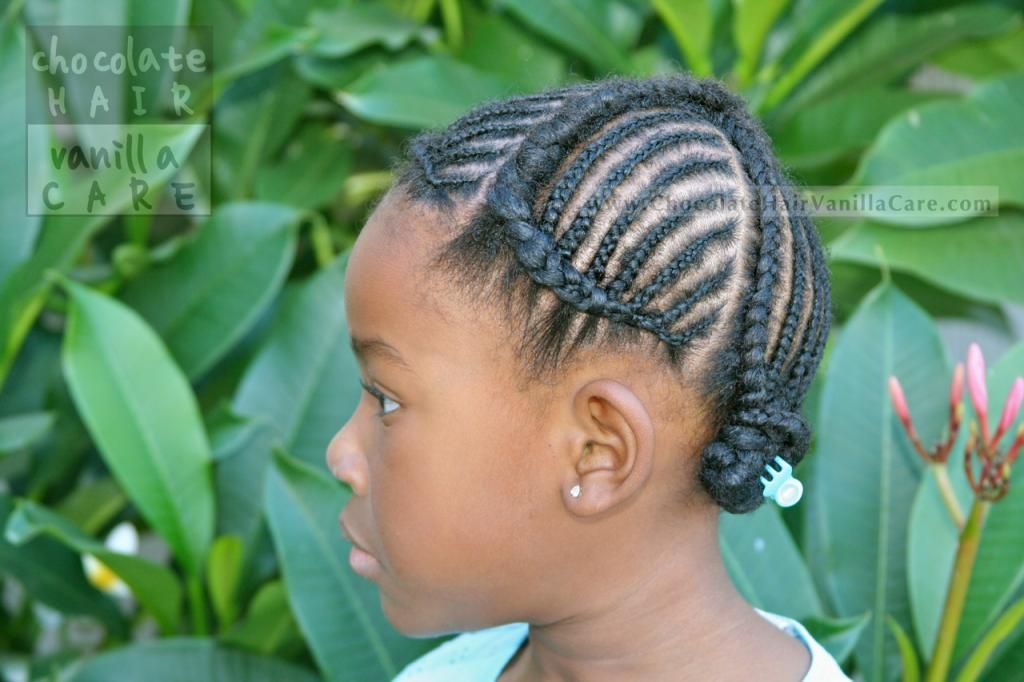 Cornrows Braided Toward the Hairline: Protective Hairstyle #NaturalHair | Chocolate Hair / Vanilla Care