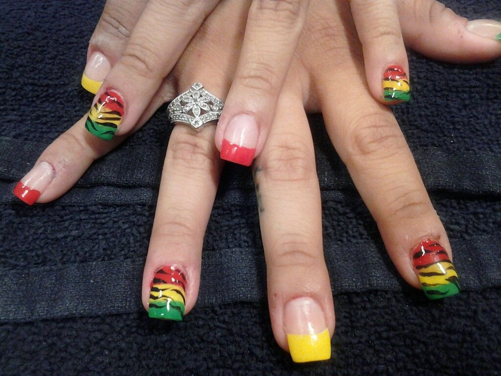 Rasta Nail Art Nails Pinterest Nails Rasta Nails