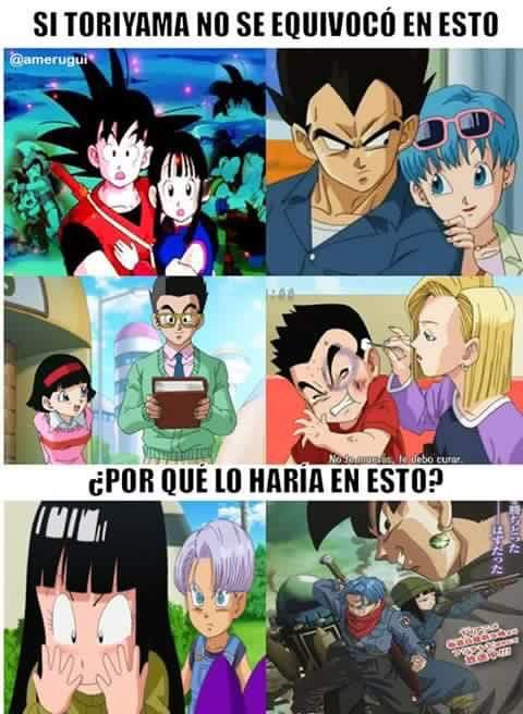 Trumai Aunque Sea Una Equivocacion Es Amor Memes De Anime Meme De Anime Dragon Ball