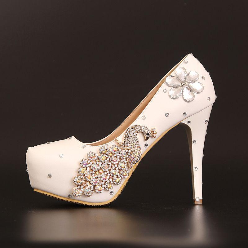répliques dernières tendances couleur attrayante Chaussure mariage soirée chic au talon aiguille escarpins ...
