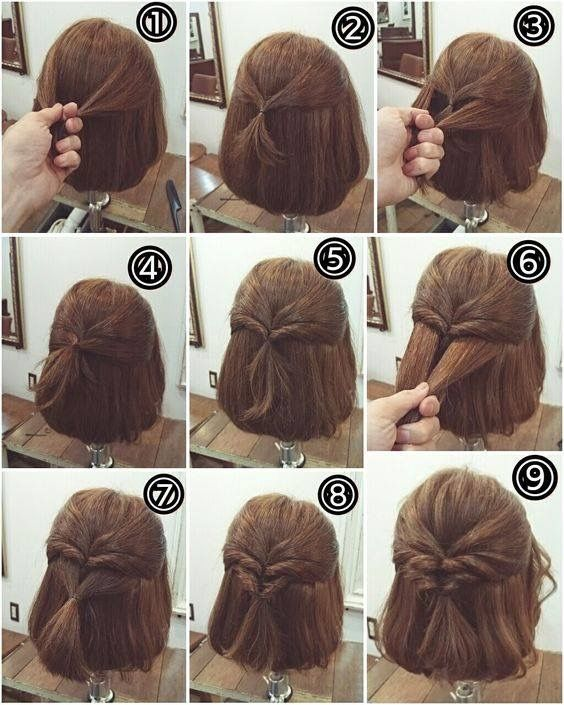 Pin By Katie Semkiu On Hair Styles Videos In Different Languages Hairdos For Short Hair Hair Styles Short Hair Updo