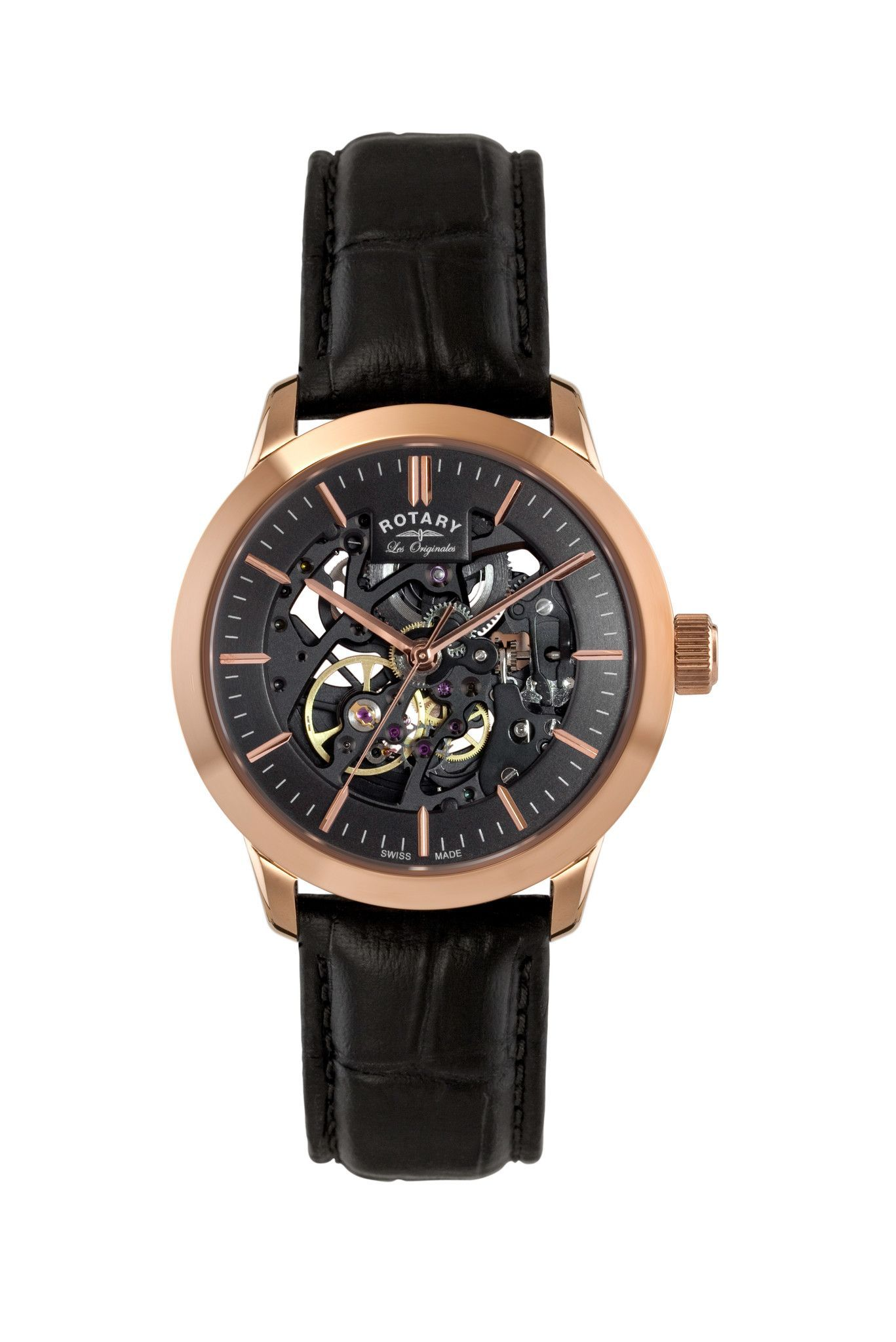 980ebdf20a8a Authentic Limited Edition Rotary LE90540 04 Men s Swiss Made Les Originales  Watch Skeleton Dial. Rotary Lifetime Guarantee Included.