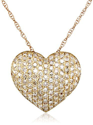 10k yellow gold heart diamond pendant necklace httpwww gold 10k yellow gold heart diamond pendant necklace mozeypictures Gallery