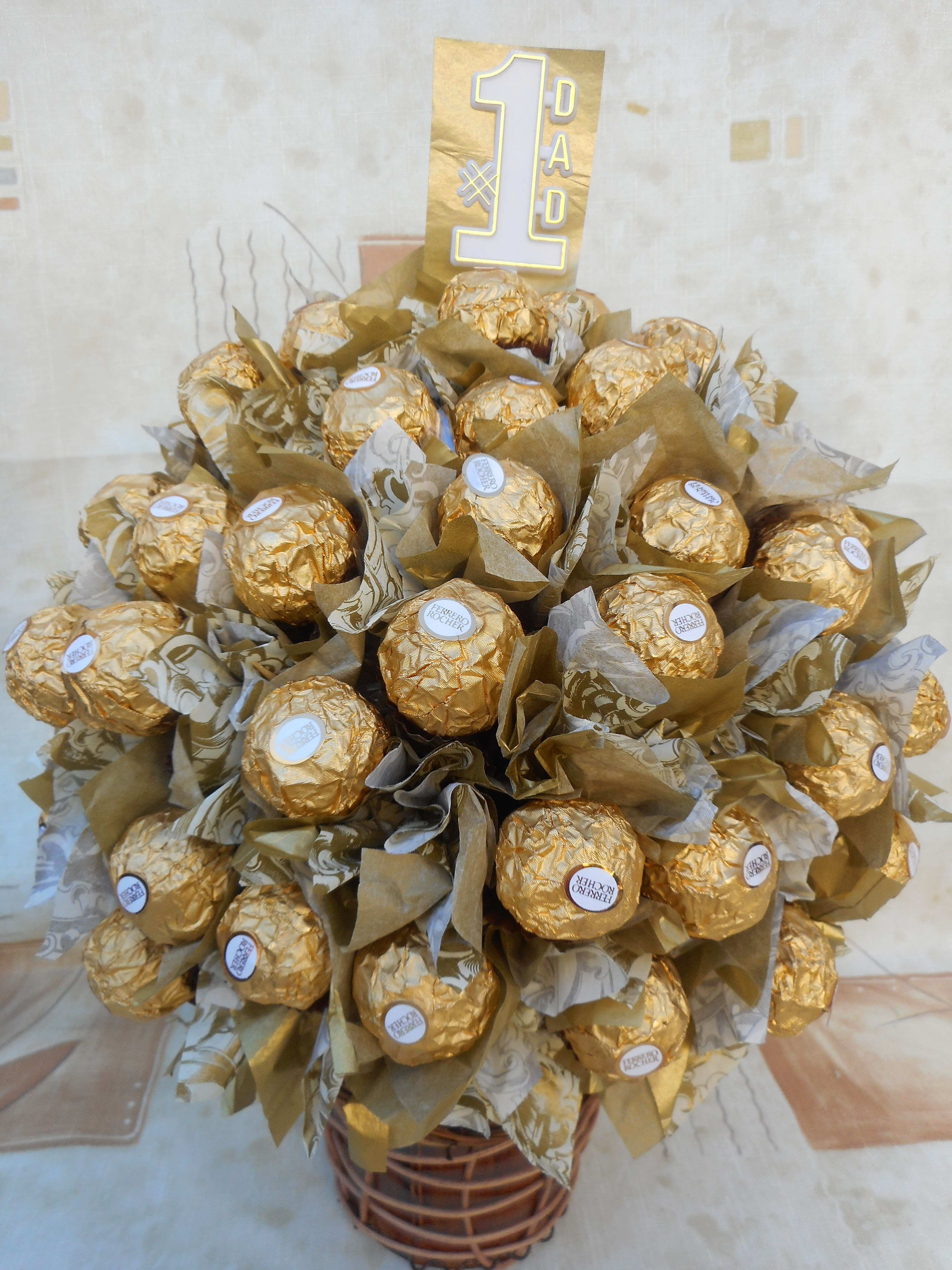 Number 1 Dad In The World Surprise Them With This Delicious Unique And Elegant Ferrero Rocher