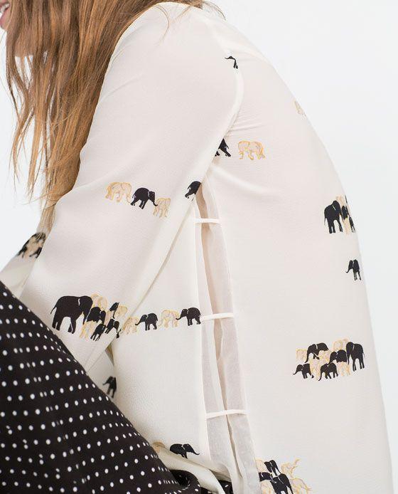 Zarastyle Shirts Rdqxtshcb Print Printed Shirt From Elephant 6gybfYv7