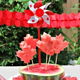 Patriotic Watermelon Pops for Canada Day
