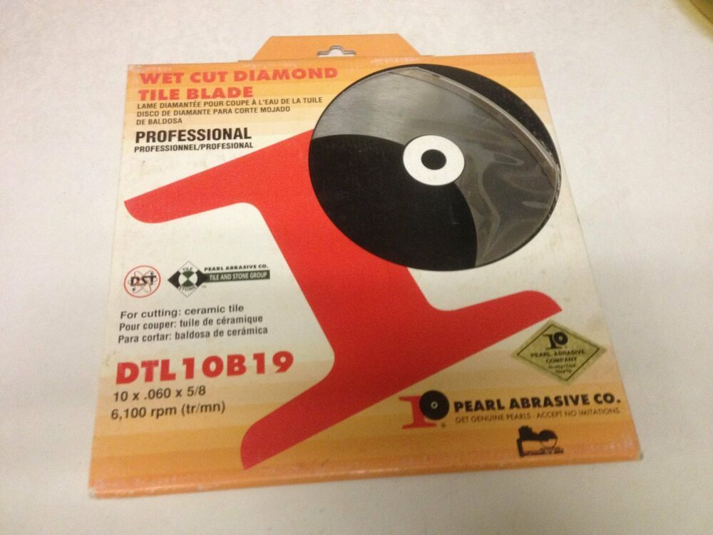 Sponsored Ebay Pearl Dtl10b19 Diamond Wet Saw Circular Saw Blades Diamond Tile Brick Saw