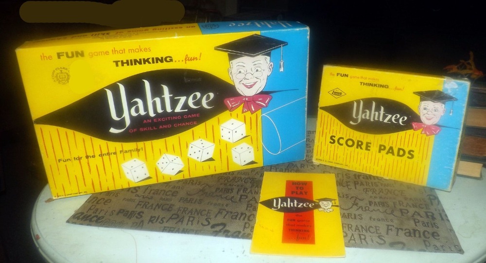 Midcentury (1956) Yahtzee dice game published in Canada