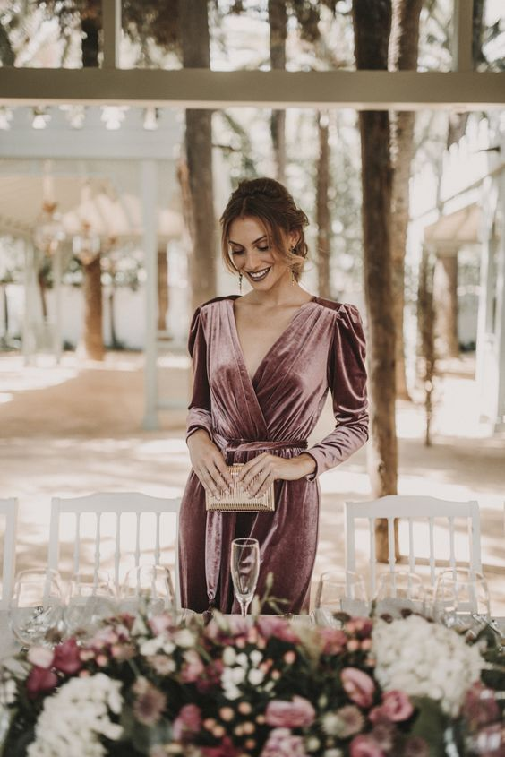 Gorgeous Winter Wedding Guest Outfit Ideas