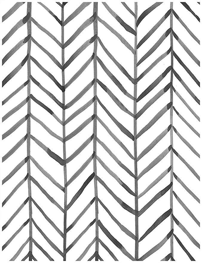 HaokHome 960201 Modern Stripe Peel and Stick Wallpaper