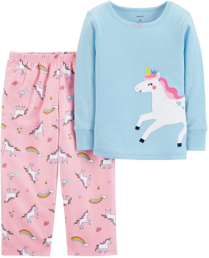 dbb0ee8646db Carter s Toddler Girl Top   Microfleece Bottoms Pajama Set in 2019 ...
