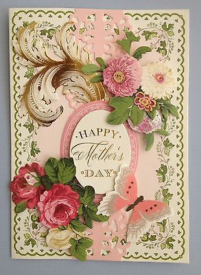 """ANNA GRIFFIN PAPERCRAFTS """"HAPPY MOTHER'S DAY"""" HANDMADE BIRTHDAY GREETING CARD"""