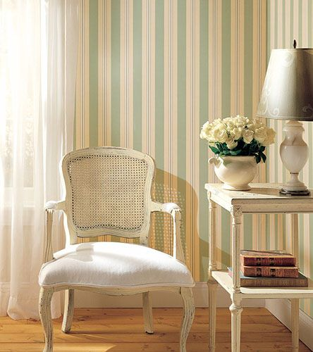 Striped Wallpaper And Home Decorating Fabrics Changing Interior Design Mood With Stripes Striped Wallpaper Living Room Striped Wallpaper Striped Wallpaper Design