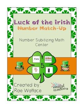 This math center activity is a blast for students! While it is intended to be used in a center, you could also pull this activity out during independent work time, or for fast finishers!Students match the four leaf clover, to the four corresponding cards, matching the numeral on the clover to different ways to create the number on each card.
