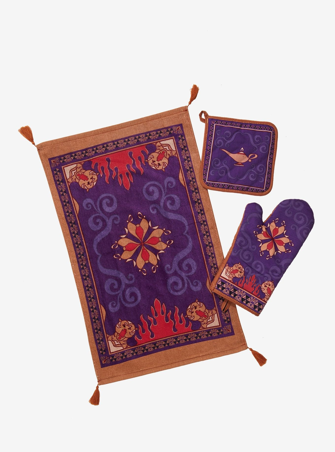 Disney Aladdin Magic Carpet Oven Mitt Dish Towel Set Aladdin Magic Carpet Magic Carpet Dish Towel Set