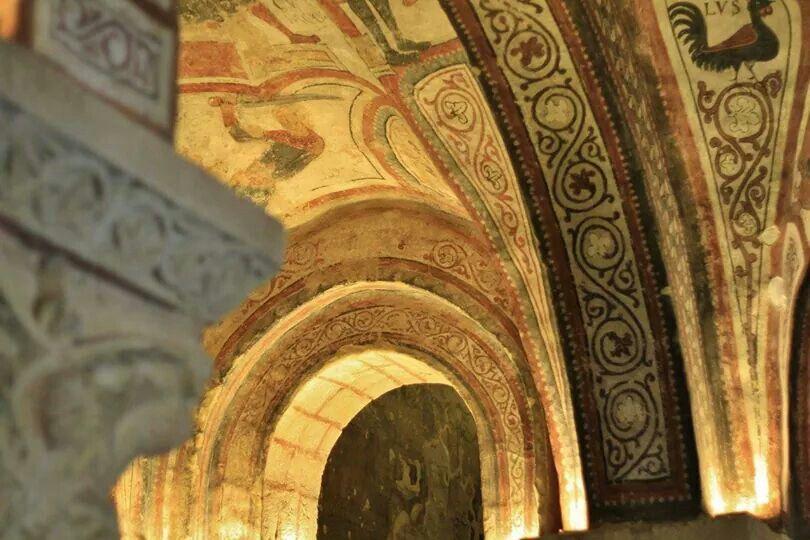 León, panteón real, detalle, real colegiata de san Isidoro