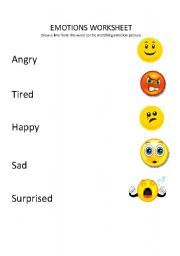 facial expressions for preschooler | English teaching worksheets ...