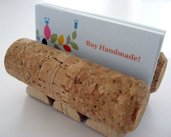 Wine cork business card holder office home photos recipes wine cork business card holder office home photos recipes coworker gift teacher gift colourmoves