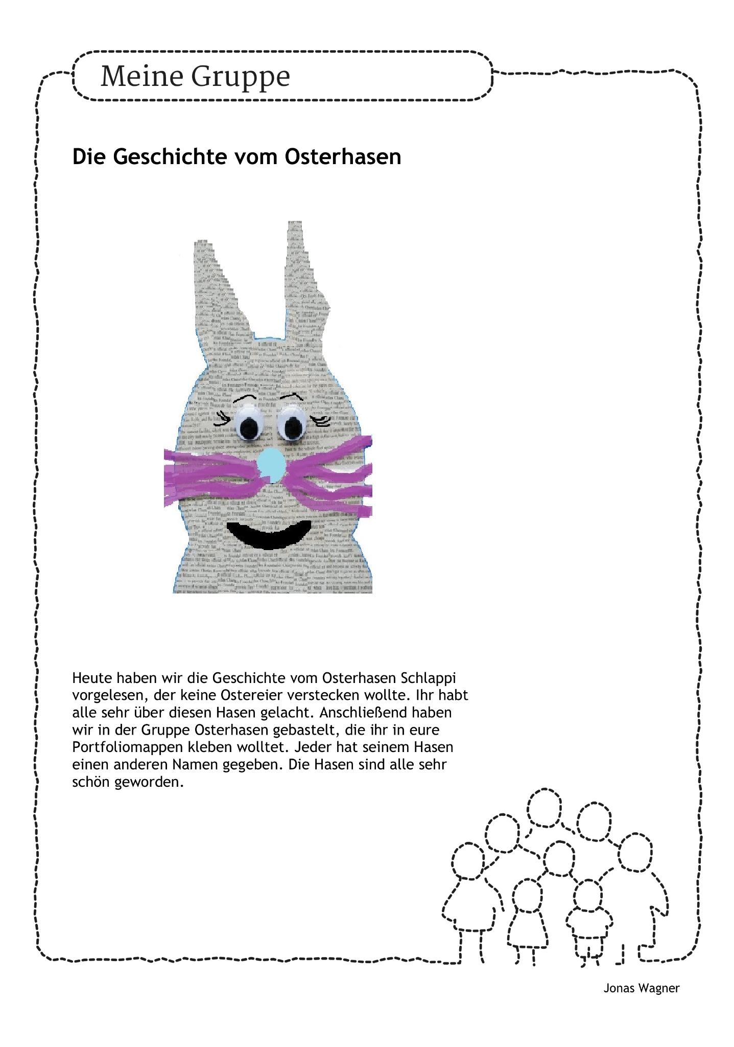 DIY #Osterhase #Portfolio #Thementag #Kinder #Kindergarten #Erzieher ...