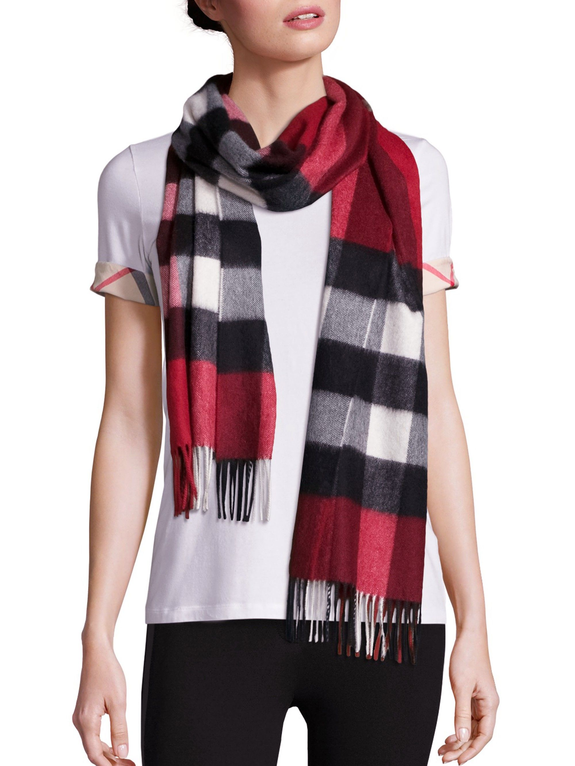 503d0368a9b BURBERRY Heritage Half Mega Check Cashmere Scarf.  burberry  all ...