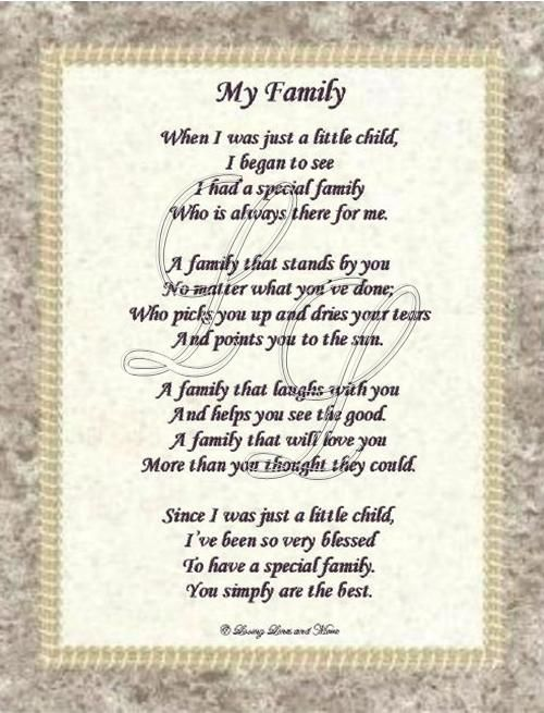I Love My Family And Friends Poems Poems About Love For K...