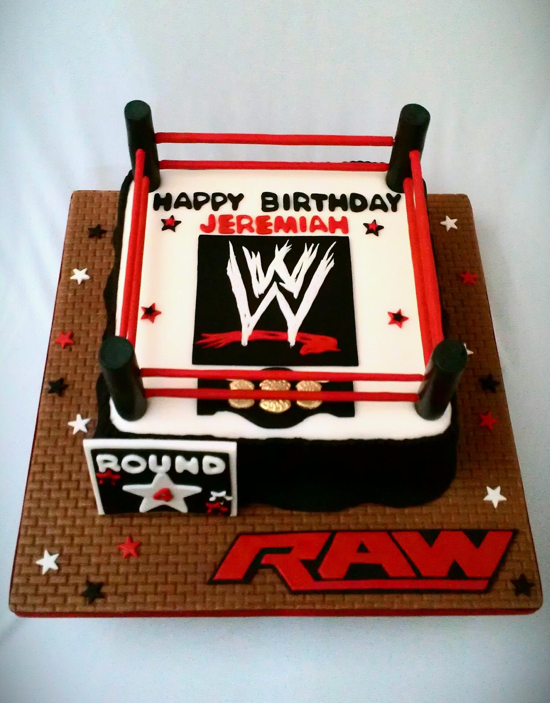 Wrestling Cake Wrestling Cake Wwe Birthday Cakes Wrestling Birthday Cakes