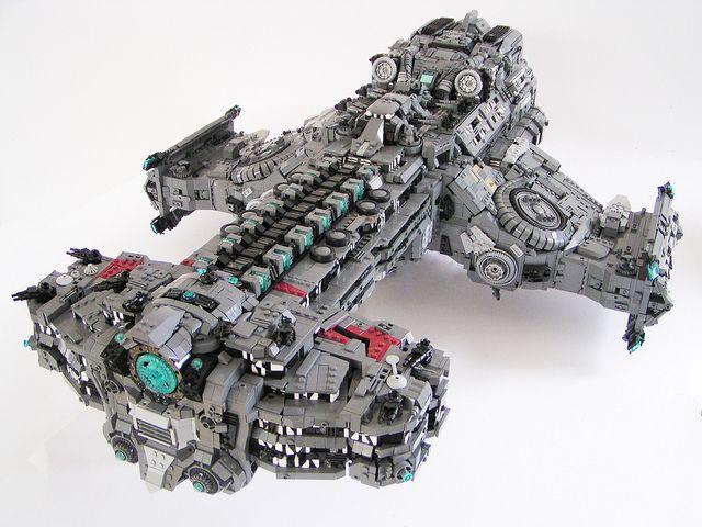 Hyperion Starcraft battleship with Lego