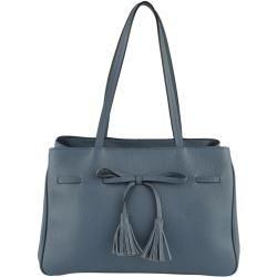 Photo of Mona, Handtasche mit Zierschleife, blau Mona