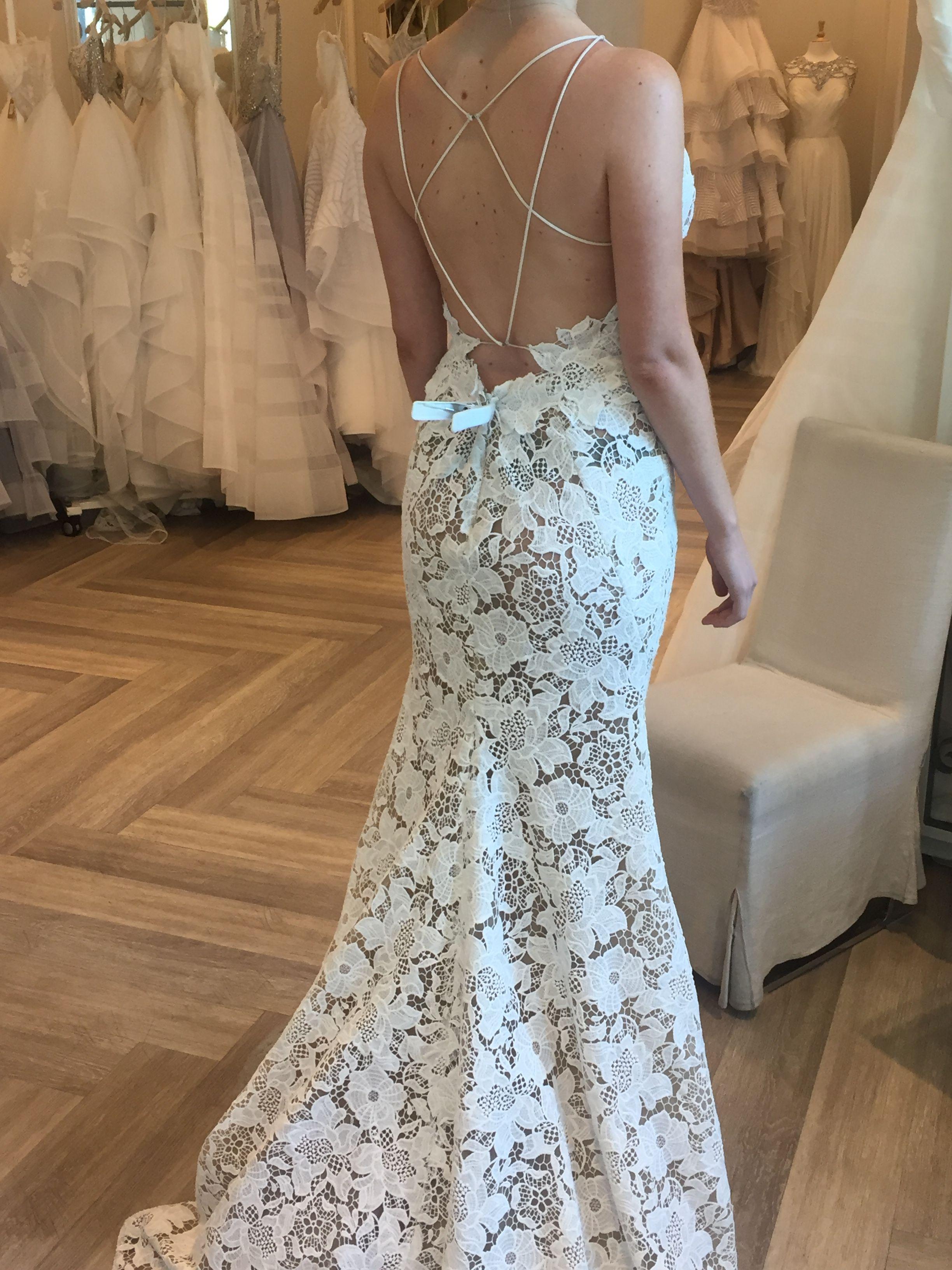 Haley Paige backless lace wedding dress