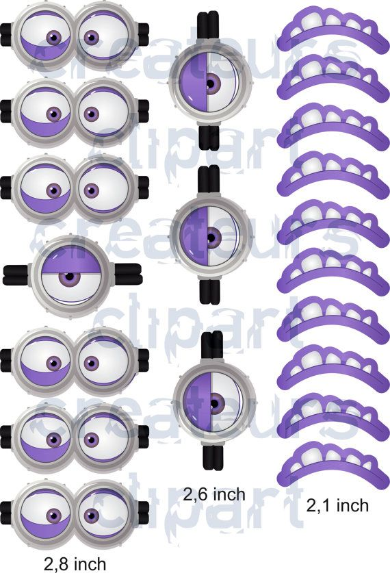 instant download evil minion goggles mouth birthday party ideas in