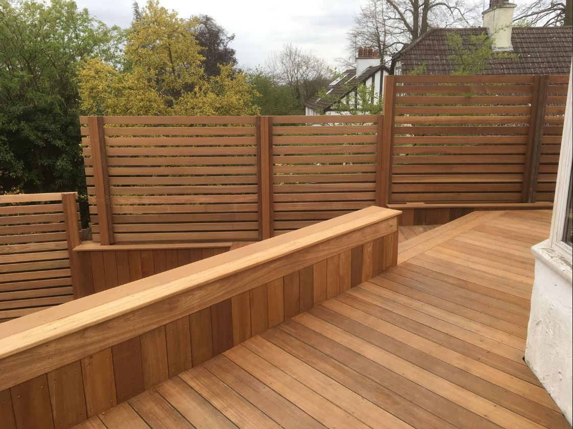 Yellow Balau 21 X 145mm Smooth Decking Board And 19 X 90mm Yellow