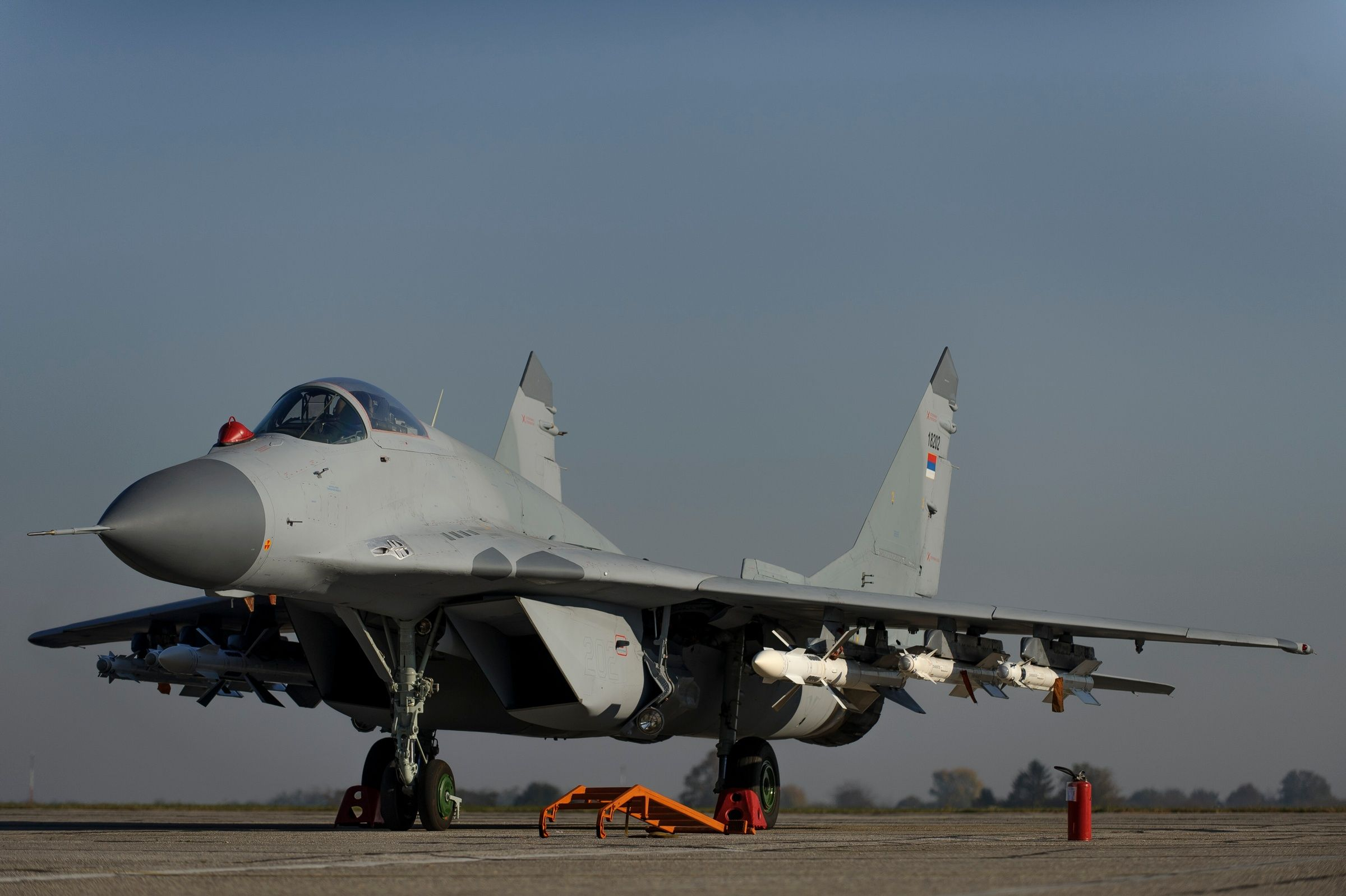 Serbia has received six former Russian air force RAC MiG-29 ...