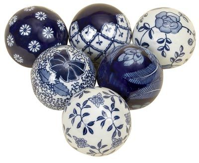 Decorative Balls For Bowls Australia Pier One Imports Blue And White Asian Glass Balls Pics  Wholesale
