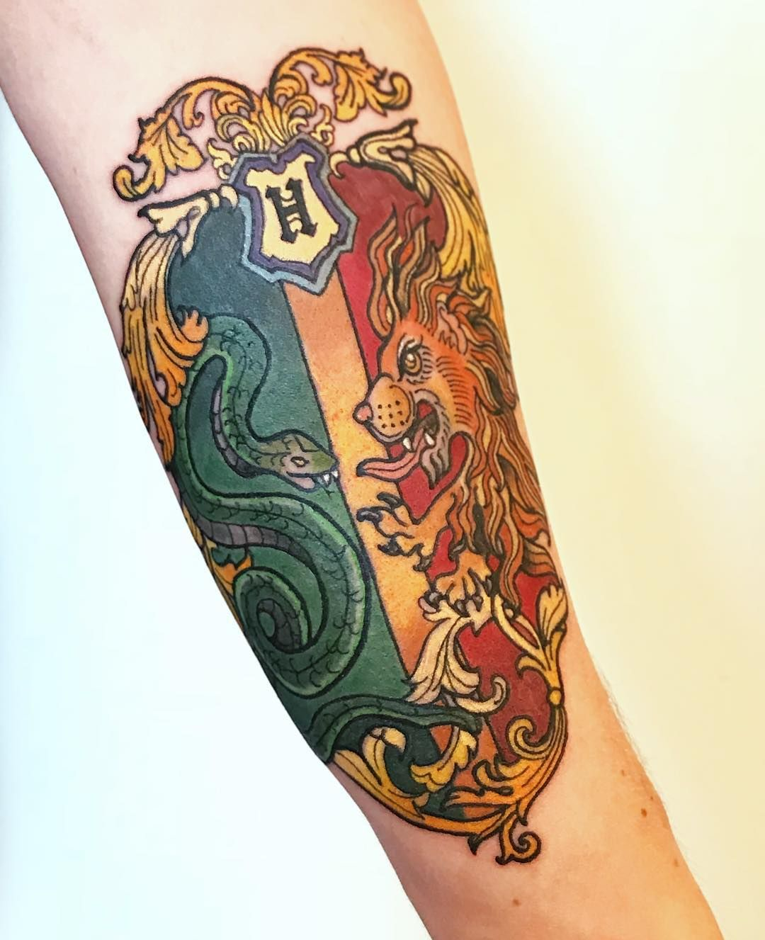 35 Enchanting Harry Potter Tattoos Slytherin Tattoo Harry Potter Tattoos Tattoos