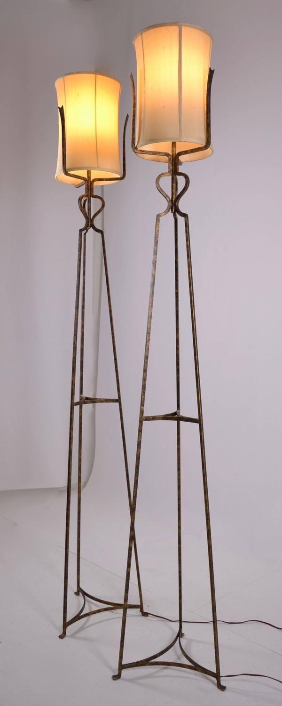 Pair of Tommi Parzinger Floor Lamps, circa 1950s 4