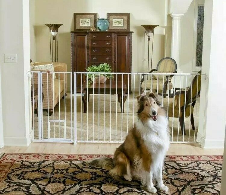 Details about carlson dog gate pet door extra tall