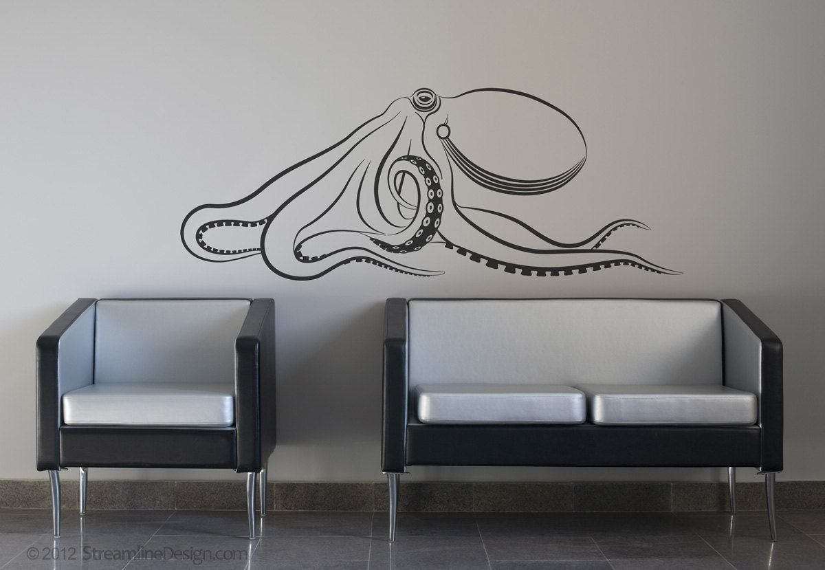 Giant Octopus Vinyl Wall Art   Release The Kraken. $19.95, Via Etsy.