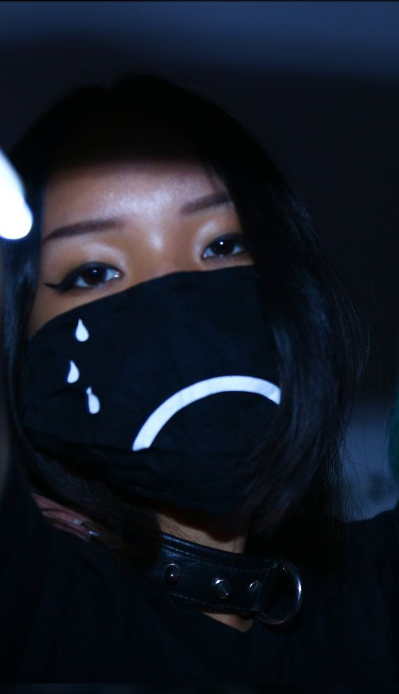 Emo Girl With Bandana Wallpaper Sad Doctor Flu Mask Dust Kawaii Ninja Tokyo Tear Frown