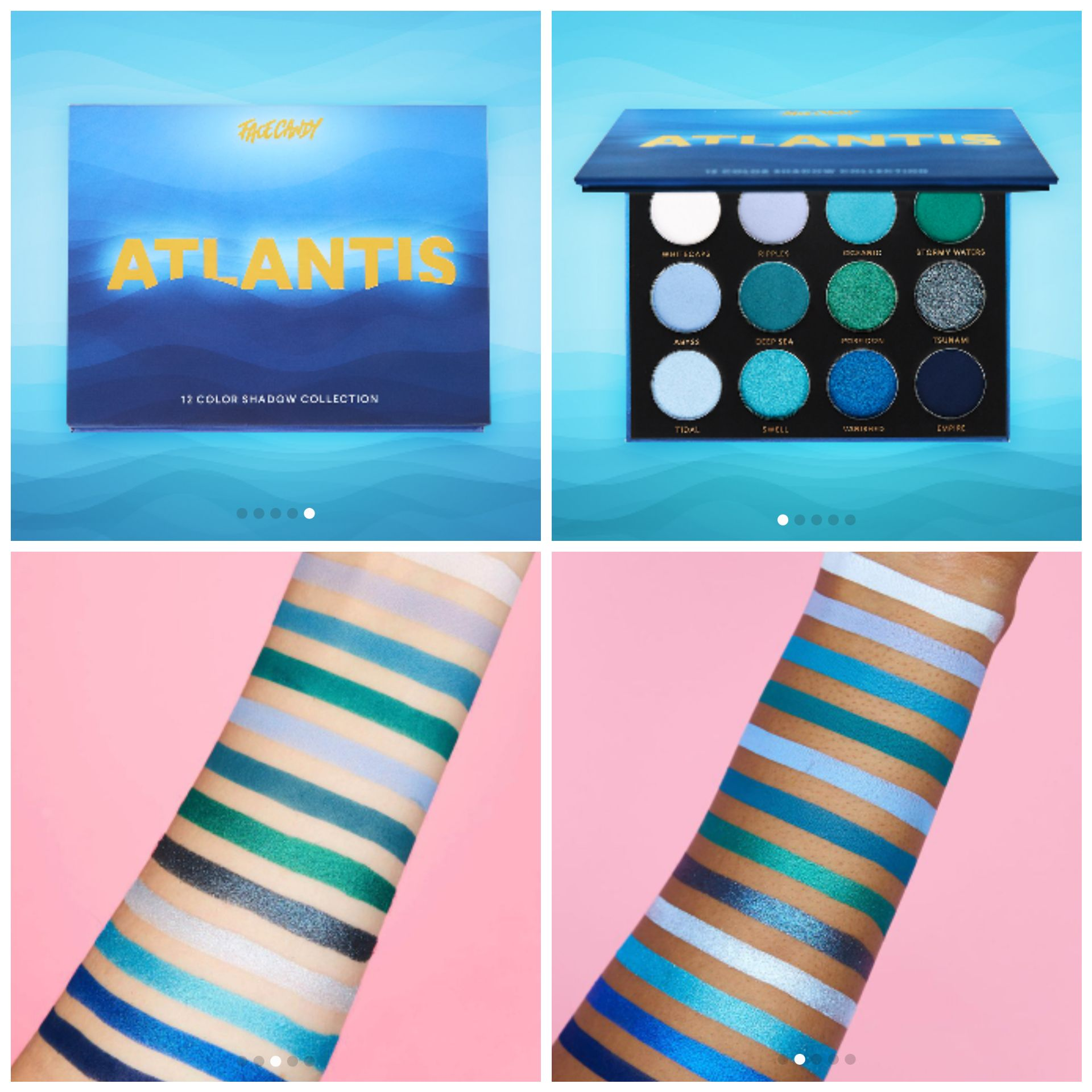 Face Candy's Atlantis Pallete is now available! Makeup