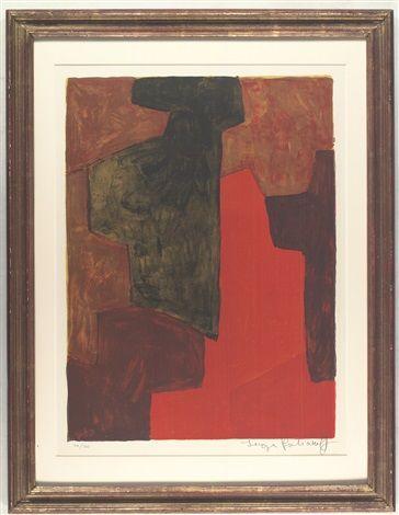 Komposition in Orange und Grün von Serge Poliakoff
