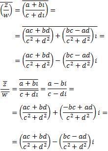 demostración del conjugado del cociente de complejos | escuela ...