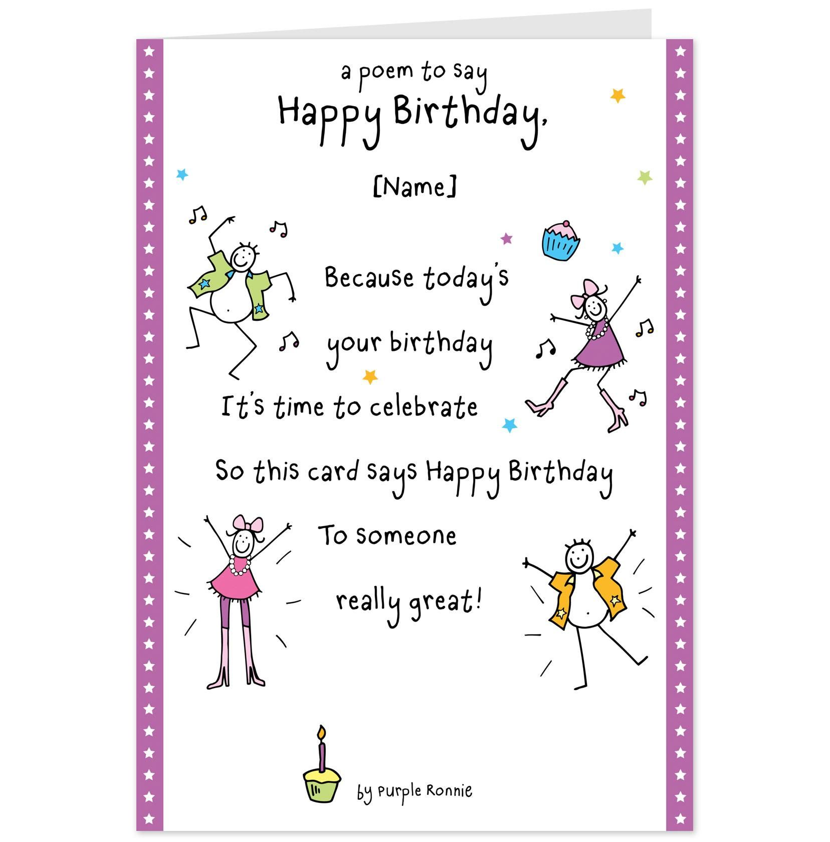 Funny Happy Birthday Poems For Husband: Poem To Say Happy Birthday. Nicewishes.com
