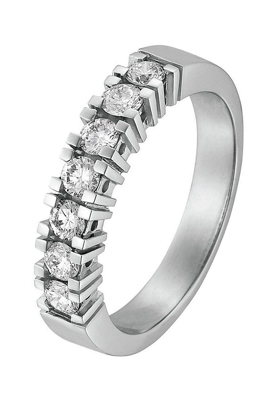 Christ Diamonds Damen Ring 585er Gelbgold 7 Diamant Ca 0 50 Ct