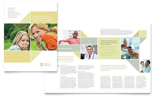 Health Insurance Brochure Template Stuff To Buy Pinterest