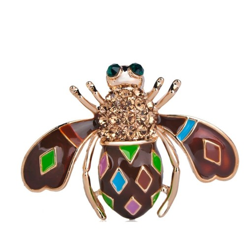 Lux Broszka Pszczola Kolorowa Pudelko 7716819384 Allegro Pl Color Crystal Brooch Cute Bee