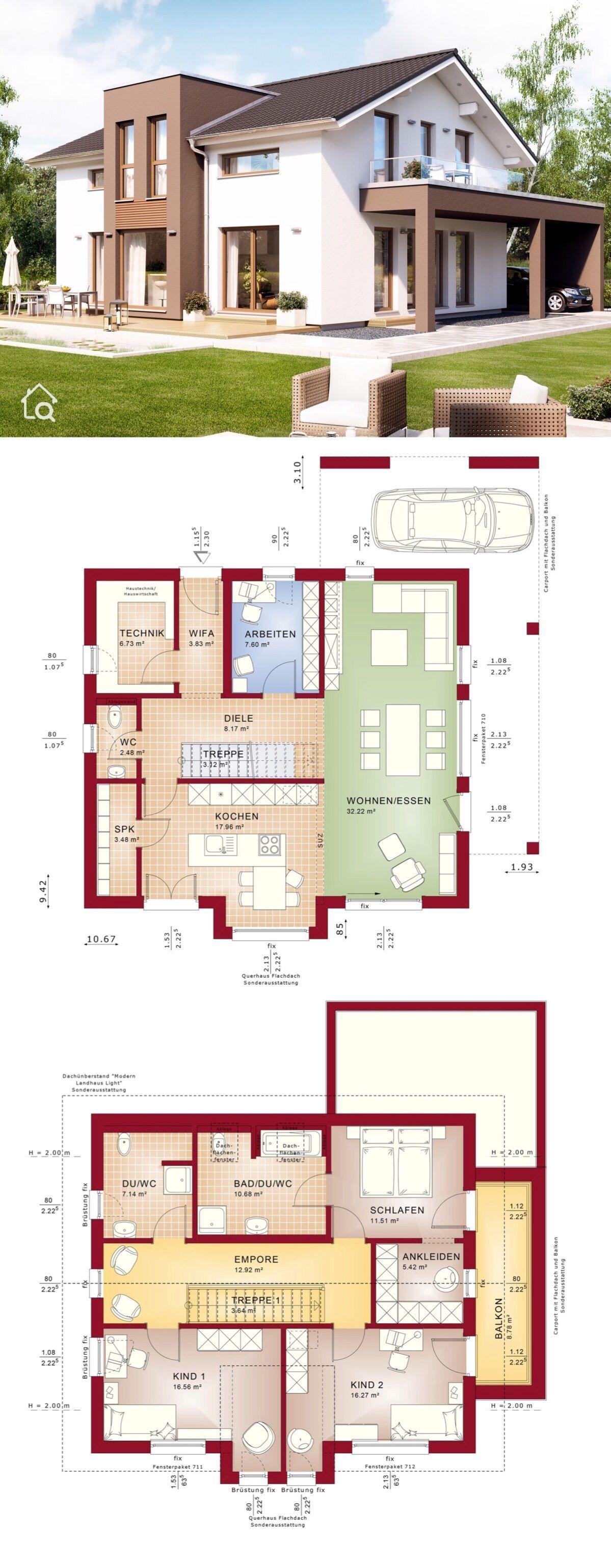 Einfamilienhaus EVOLUTION 162 V4 mit Carport